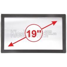 Сенсорная панель (сенсорное стекло) LED I-Touch инфракрасная 19 дюймов, 3 мм, 16:9 без рамки, широкоформатная