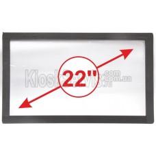 Сенсорная панель (сенсорное стекло) LED I-Touch инфракрасная 22 дюйма, 3 мм, 16:9 без рамки, широкоформатная