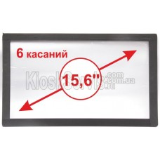 """Сенсорная панель  Led i-Touch мультитач, широкоф. 15,6"""" / 6 касаний 3 мм в рамке"""