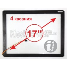 """Touch panel Led i-Touch multitouch, square 17 """"/ 4 touches in a frame"""