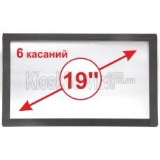 "Сенсорная панель  Led i-Touch мультитач, широкоф. 19"" / 6 касаний"