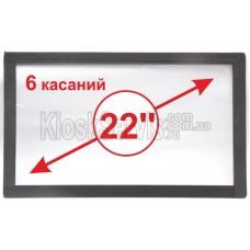 "Сенсорная панель  Led i-Touch мультитач, широкоф. 22"" / 6 касаний"