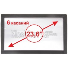 """Touch panel Led i-Touch multitouch, wide-angle 23.6 """"/ 6 touches 3mm framed"""