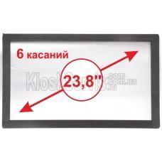 """Сенсорная панель  Led i-Touch мультитач, широкоф. 23,8"""" / 6 касаний 3 мм в рамке"""