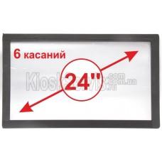 """Сенсорная панель  Led i-Touch мультитач, широкоф. 24"""" / 6 касаний 3 мм в рамке"""