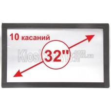 "Сенсорная панель  Led i-Touch мультитач, широкоф. 32"" / 10 касаний"