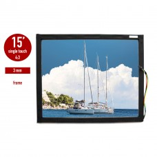Touch panel (touch glass) LED I-Touch infrared 15 inches, 3 mm, 4: 3 in frame