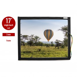 Touch panel (touch glass) LED I-Touch infrared 17 inches, 3 mm, 4: 3 in frame