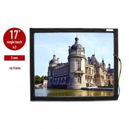 Touch panel (touch glass) LED I-Touch infrared 17 inches, 3 mm, 4:3 without frame