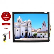 Сенсорная панель (сенсорное стекло) LED I-Touch инфракрасная 17 дюймов, 6 мм, 4:3 в  рамке, бронированная