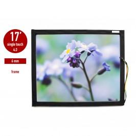 "Touch panel (touch glass) LED ""I-Touch"" infrared 17 inches, 6 mm, 4:3 framed"