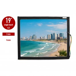 Touch panel (touch glass) LED I-Touch infrared 19 inches, 3 mm, 4: 3 framed