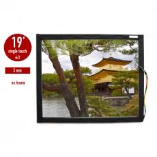 Сенсорная панель (сенсорное стекло) LED I-Touch инфракрасная 19 дюймов, 3 мм, 4:3 без рамки